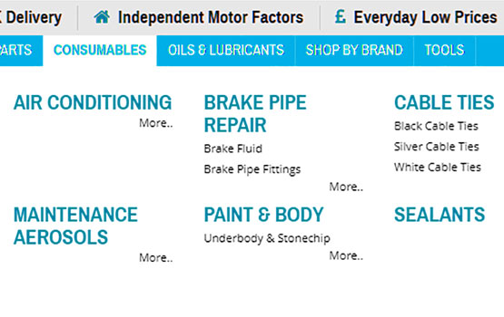 Car care & accessory product listing